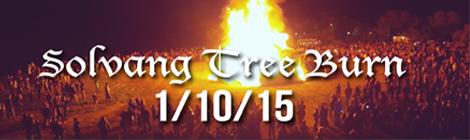 Solvang Tree Burn 2015